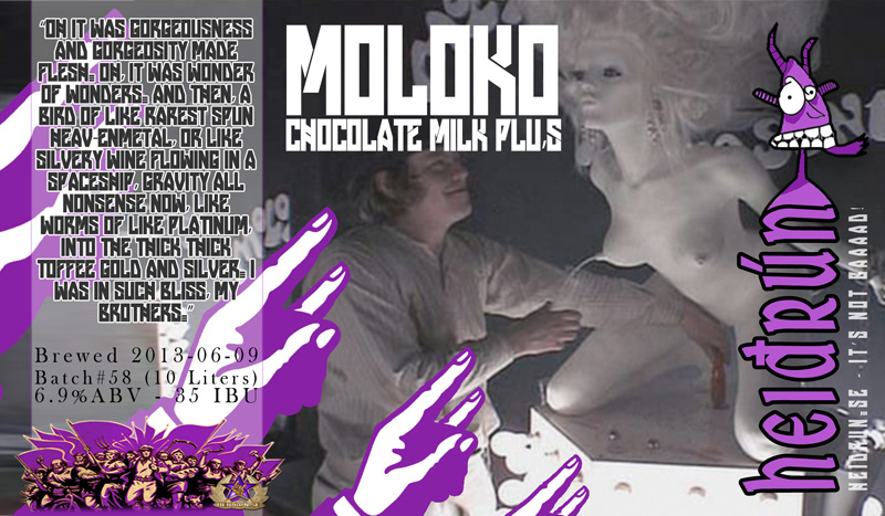 #58 Moloko Milk+ Chocolate (label)